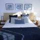gavina mar habitación blau cama