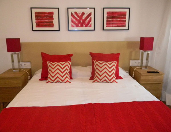 gavina mar habitación bordeaux cama