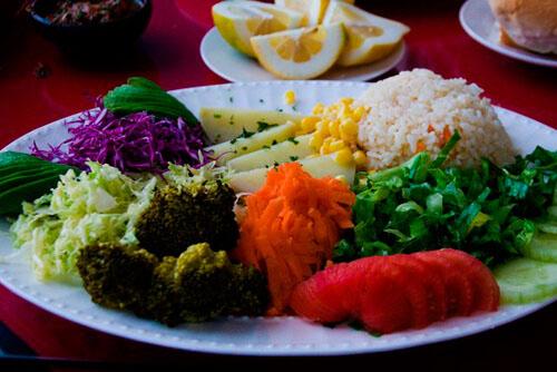 gavina mar gastronomía verduras